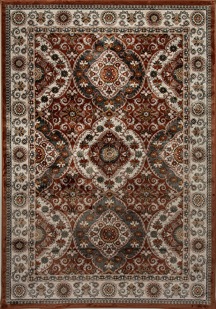 Dynamic Rug Venice 1578 106 Rust Cream Area Rug