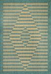 Dynamic Rugs Villa 1633-850 Neutral/Aqua Area Rug