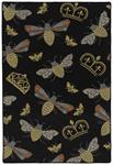 Critter Comforts HCC02-02 Black Area Rug - Hilary Farr by Kaleen