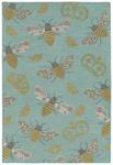 Critter Comforts HCC02-79 Light Blue Area Rug - Hilary Farr by Kaleen