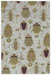 Critter Comforts HCC03-05 Gold Area Rug - Hilary Farr by Kaleen
