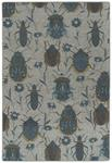 Critter Comforts HCC03-17 Blue Area Rug - Hilary Farr by Kaleen