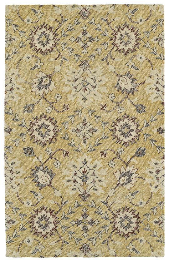 Kaleen Weathered WTR07-05 Gold Area Rug