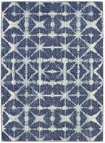 Karastan Expressions 91669-50102 Triangle Accordion Indigo by Scott Living Area Rug