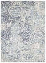 Karastan Expressions 91671-60110 Imprinted Blooms Aqua by Scott Living Area Rug