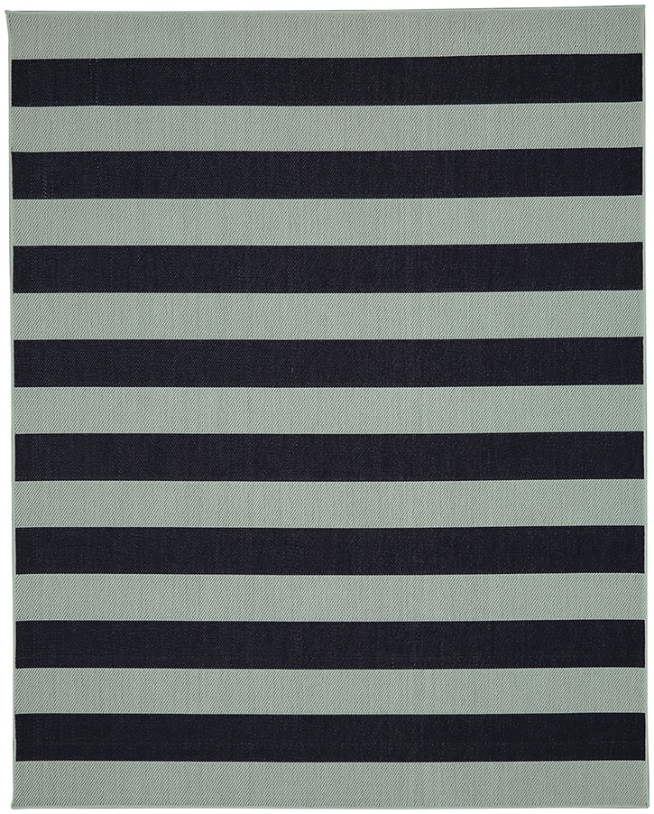 Portico 91020-2034 Riviera Stripe Aqua Indoor-Outdoor Area Rug - Karastan