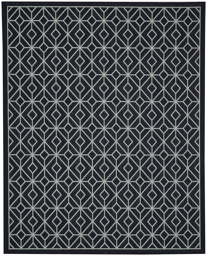 Portico 91024-2095 Tremiti Navy Indoor-Outdoor Area Rug - Karastan