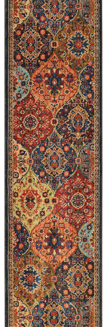 "Karastan Spice Market 90669-90097 Levant Multi 2'4"" (28"") Wide Hall and Stair Runner"