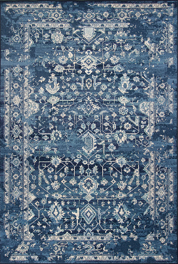 Kas Bob Mackie Home Vintage 1310 Azure Blue Marrakesh Area