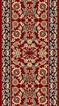 Kas Cambridge Classic 7301 Red Black Kashan 2'3