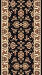 Kas Cambridge Classic 7313 Black Ivory Kashan 2'3