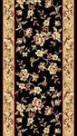 Kas Cambridge Floral 7336 Black Beige Floral Delight 2'3