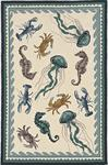Kas Harbor 4204 Ivory Teal Beach Life Area Rug