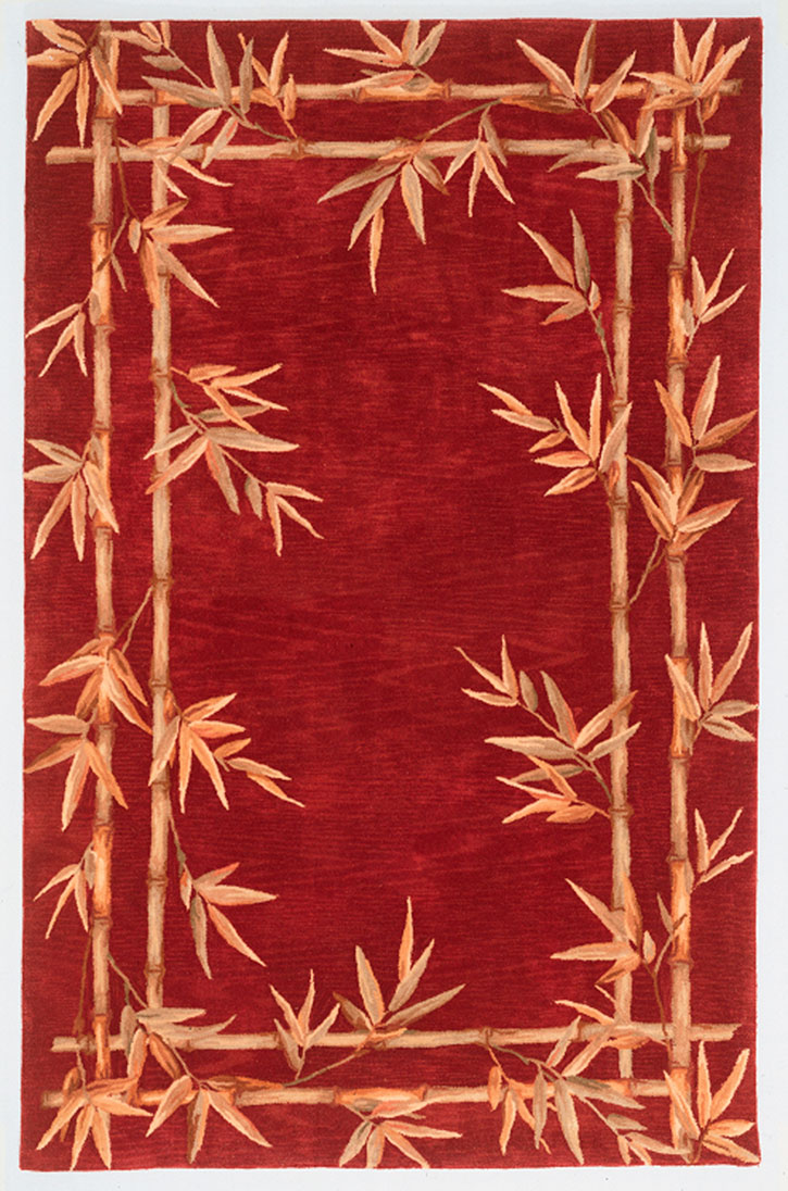 Kas Sparta 3145 Red Bamboo Double Border Area Rug Carpetmart
