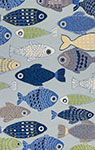 Kas Sonesta 2010 Lt Blue Sea Of Fish Area Rug
