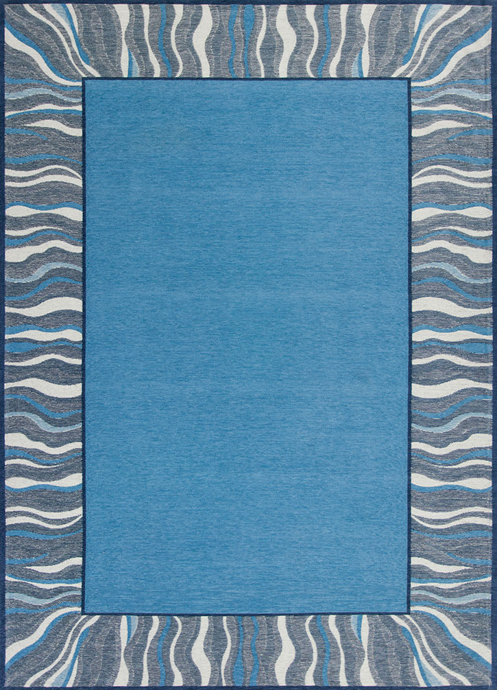 Kas Retreat 0128 Denim Blue Waves Area Rug