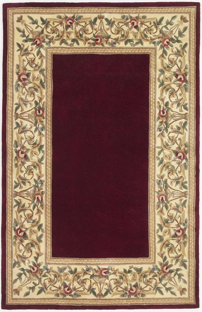 Ruby 8979 Ruby Floral Border Area Rug By Kas Oriental Rugs