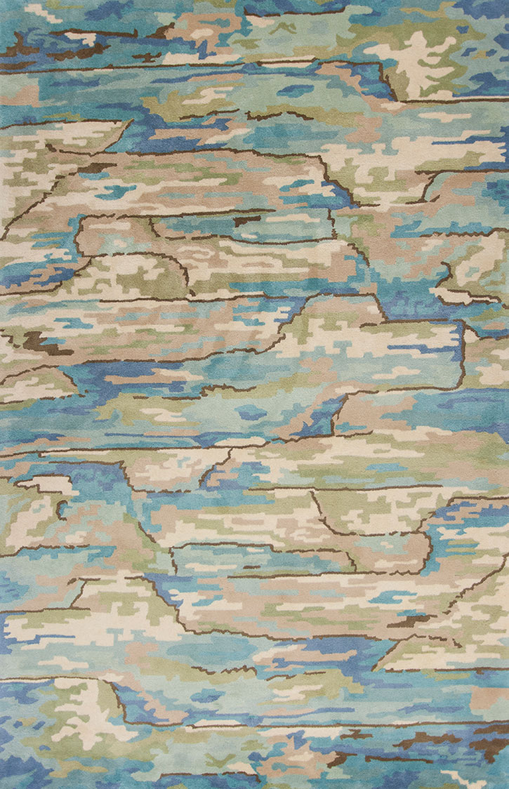 Kas Whisper 3002 Beige/Blue Landscapes Area Rug