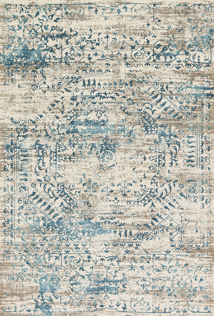 Loloi Kingston Kt 05 Ivory Blue Area Rug Carpetmart Com