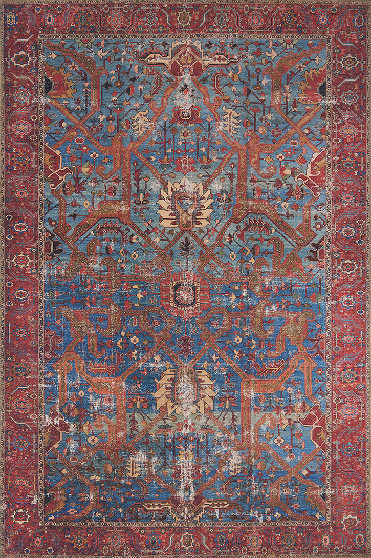 Loloi Loren Lq 10 Blue Red Area Rug Carpetmart Com
