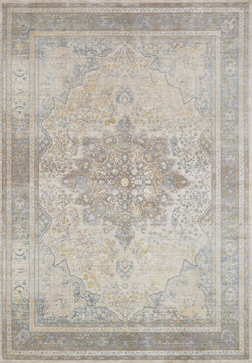 Ella Rose Ej 07 Stone Blue Area Rug Magnolia Home By