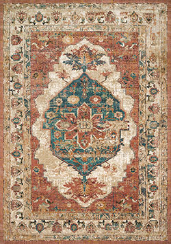 Evie VU-01 Spice/Multi Area Rug - Magnolia Home by Joanna Gaines