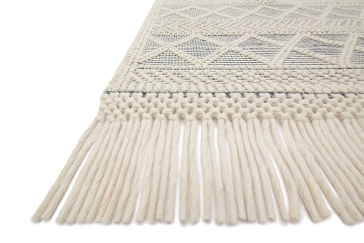 Holloway Yh 03 Navy Ivory Area Rug Magnolia Home By