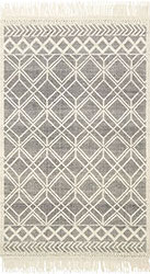 Holloway YH-04 Black/Ivory Area Rug - Magnolia Home By Joanna Gaines
