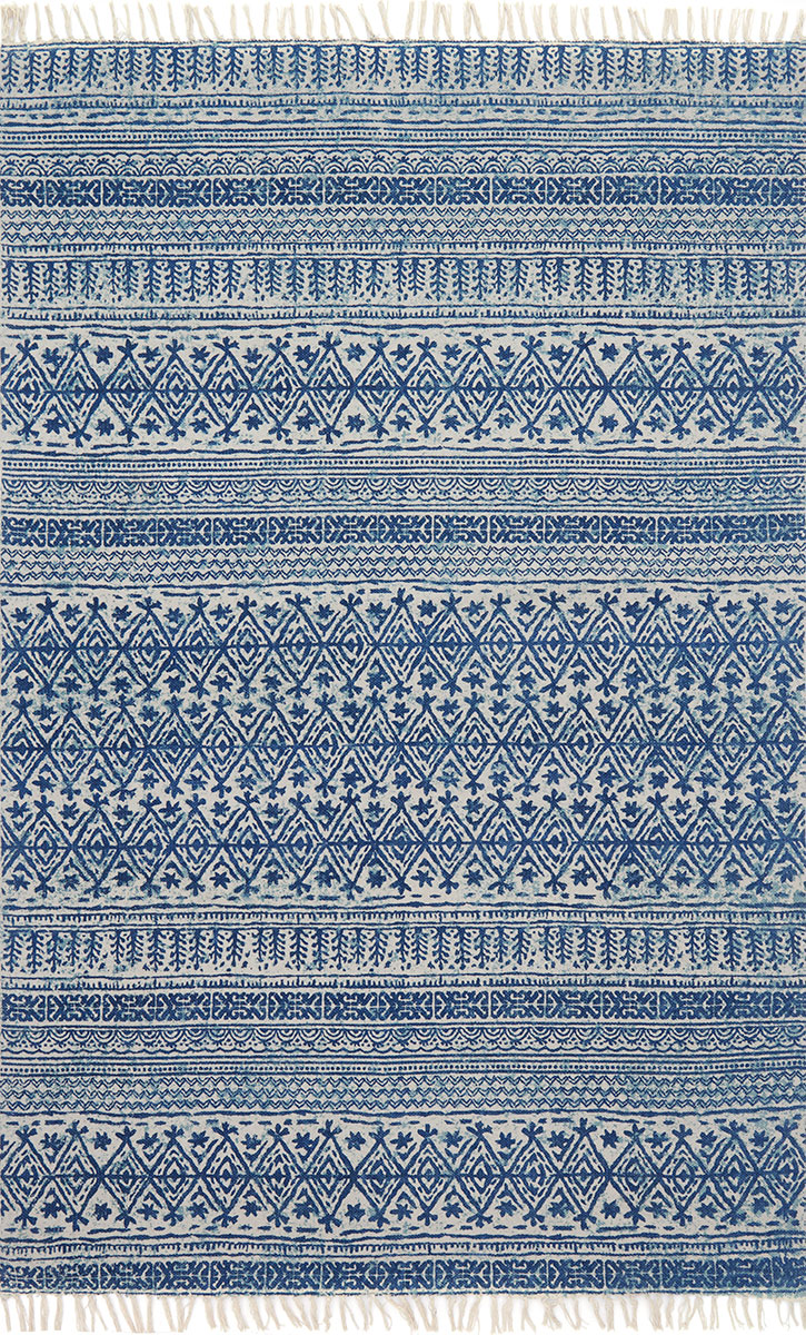 June Je 01 Blue Area Rug Magnolia Home By Joanna Gaines