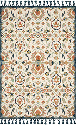 Kasuri KB-01 Ivory/Multi Area Rug - Magnolia Home by Joanna Gaines