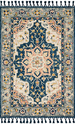 Kasuri KB-03 Blue/Multi Area Rug - Magnolia Home by Joanna Gaines