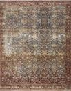 Kennedy KEN-05 Denim/Brick Area Rug - Magnolia Home by Joanna Gaines