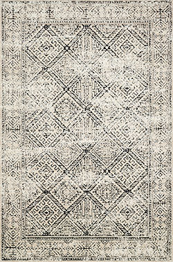 Lotus LB-07 Ivory/Black Area Rug - Magnolia Home by Joanna Gaines