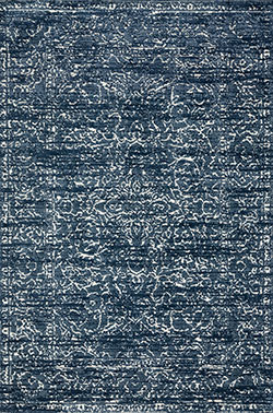 Lotus LB-09 Blue/Cream Area Rug - Magnolia Home by Joanna Gaines