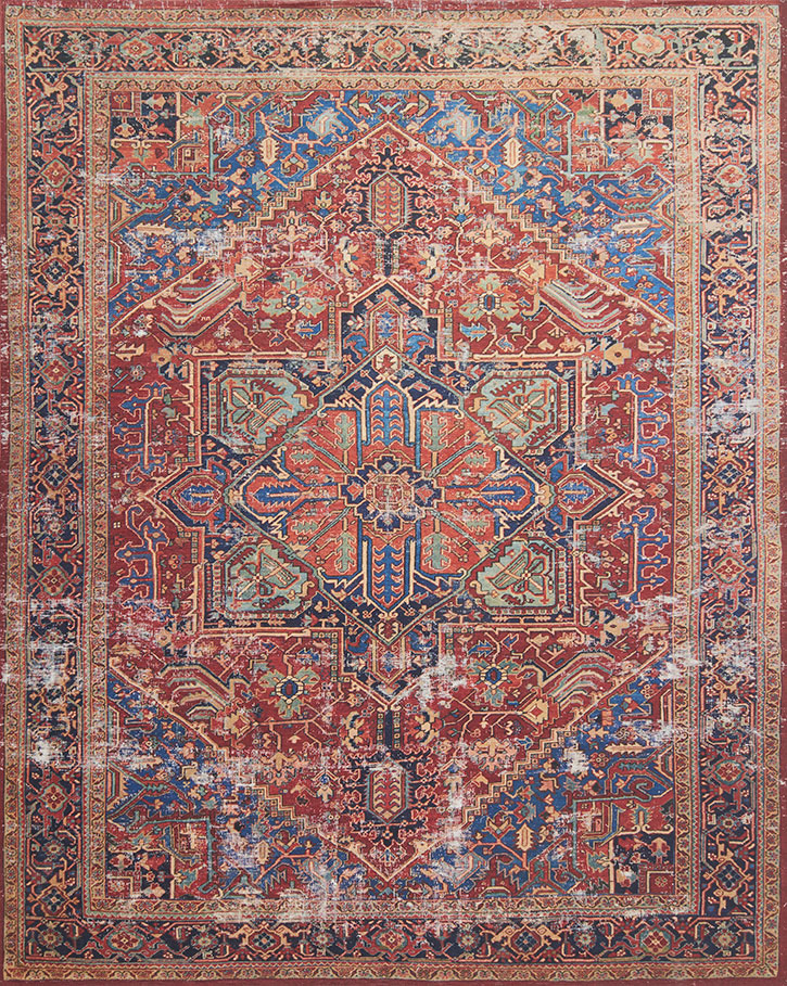 Lucca Lf 09 Red Blue Area Rug Magnolia Home By Joanna