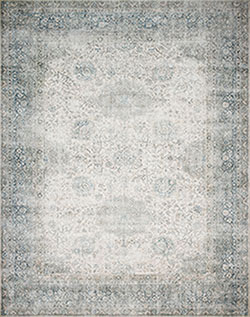 Lucca LF-12 Mist/Ivory Area Rug - Magnolia Home by Joanna Gaines