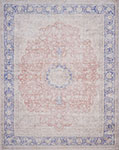 Lucca LF-03 Terracotta Blue Area Rug - Magnolia Home by Joanna Gaines