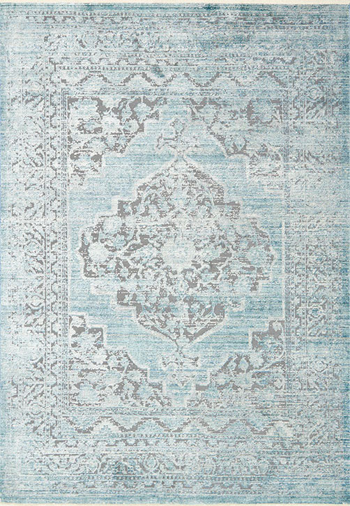 Ophelia Oe 01 Grey Aqua Area Rug Magnolia Home By Joanna