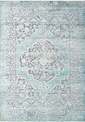 Ophelia OE-01 Grey/Aqua Area Rug - Magnolia Home By Joanna Gaines