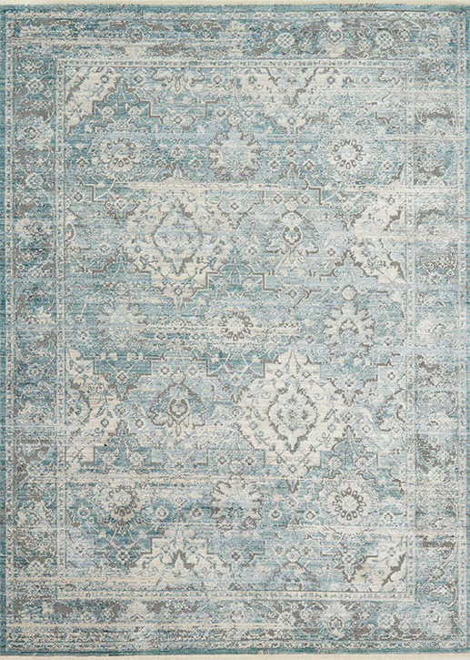 Ophelia Oe 03 Aqua Grey Area Rug Magnolia Home By Joanna