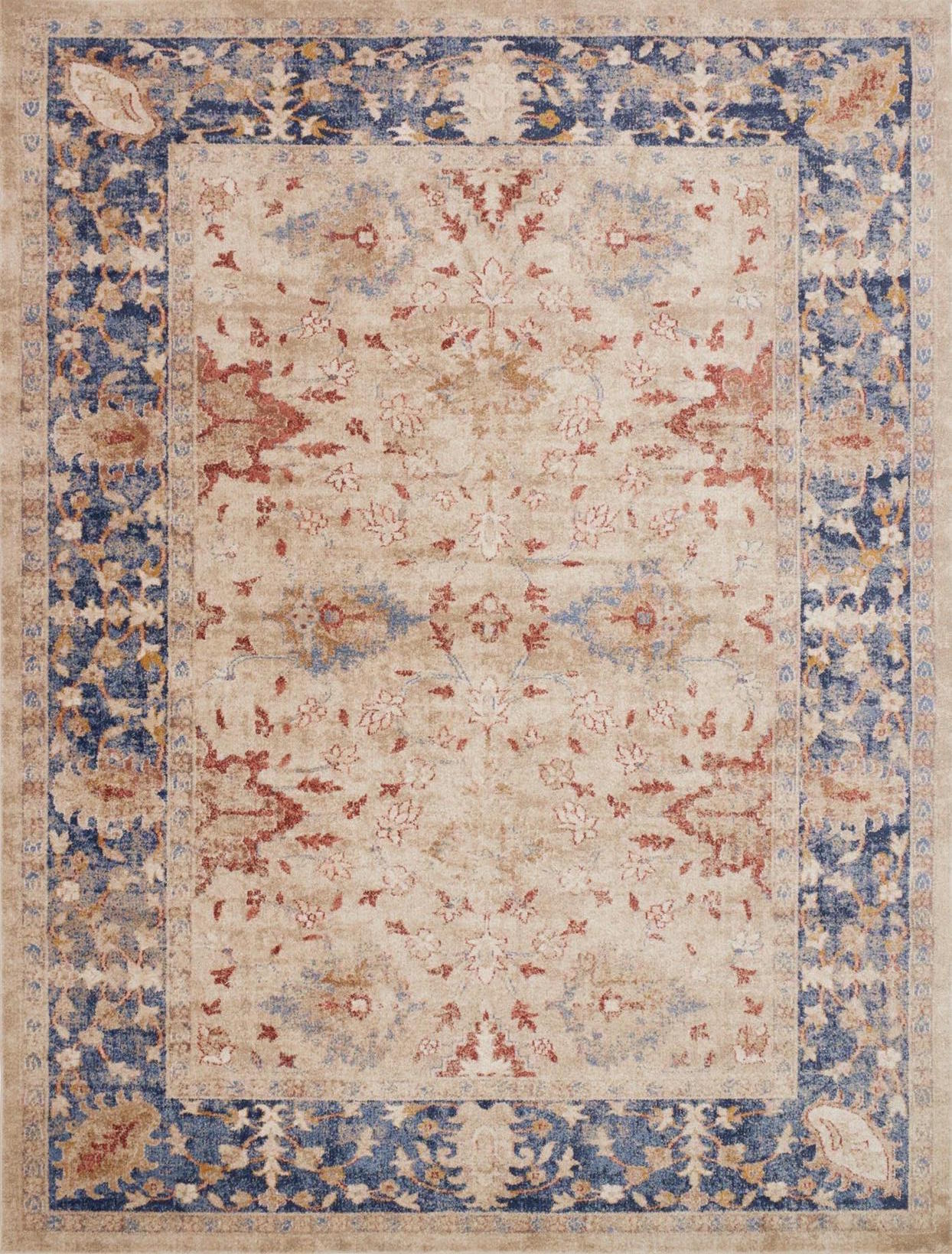 Trinity TY-08 Sand Blue Area Rug - Magnolia Home by Joanna Gaines