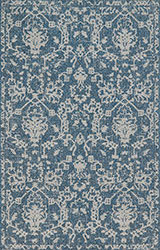 Warwick WK-03 Azure/Grey Area Rug - Magnolia Home By Joanna Gaines
