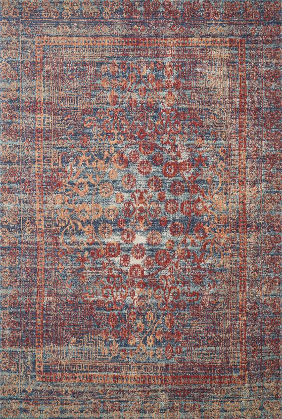 Loloi II Nour NU-05 Red/Navy Area Rug