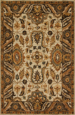 Loloi Victoria VK-02 Ivory/Dk Taupe Area Rug