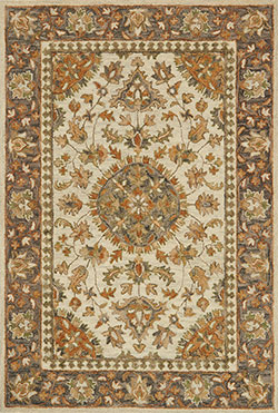 Loloi Victoria VK-11 Ivory/Charcoal Area Rug