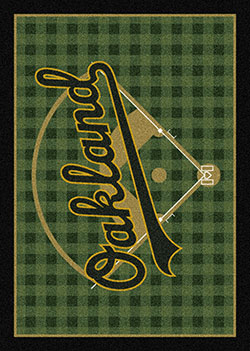 Milliken MLB Field Rug Oakland Athletics Area Rug