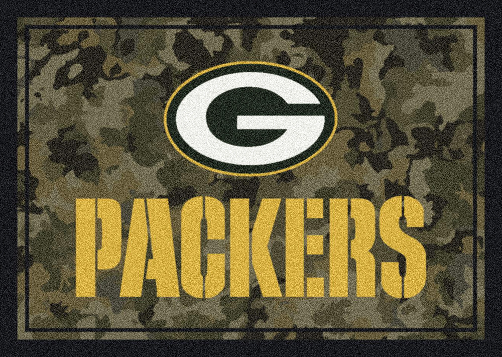Nfl Camo 3034 Green Bay Packers Area Rug By Milliken
