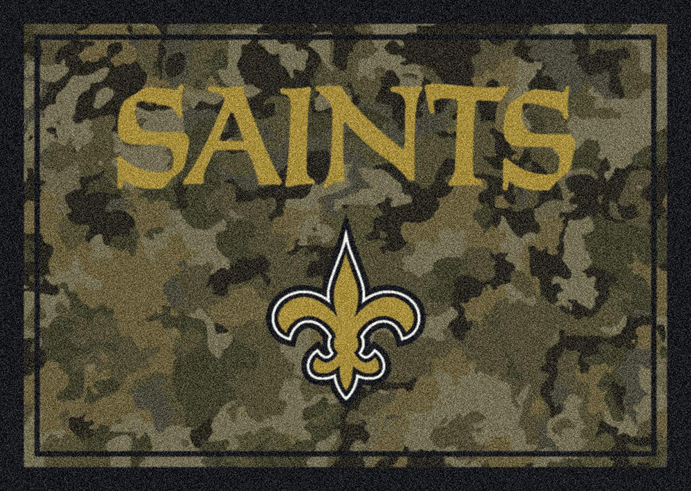 Nfl Camo 3061 New Orleans Saints Area Rug By Milliken