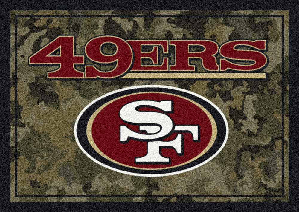 NFL Camo 3082 San Francisco 49ers Area Rug By Milliken