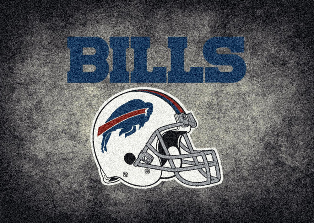NFL Distressed Helmet 4010 Buffalo Bills Area Rug by Milliken